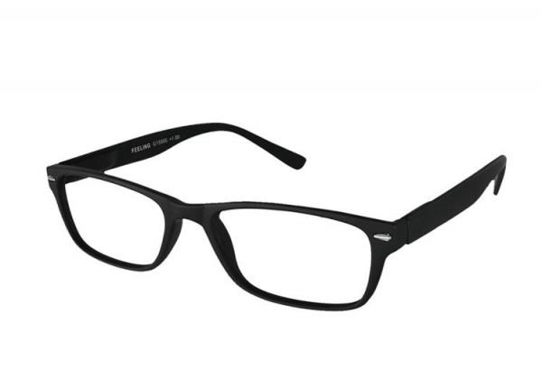 FEELING schwarz Kunststoff-Lesebrille G15600