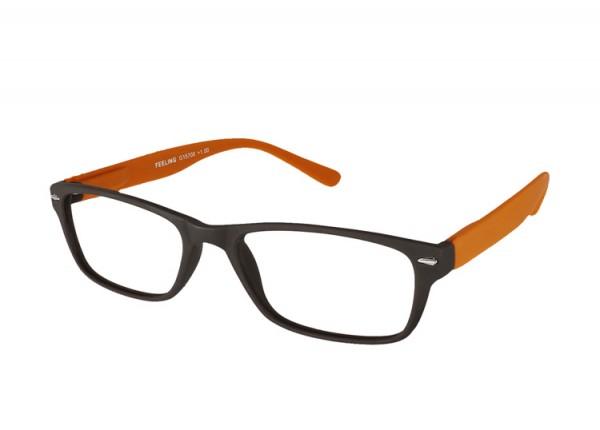 FEELING braun-orange Kunststoff-Lesebrille G15800