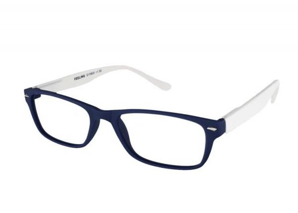FEELING blau-weiss Kunststoff-Lesebrille G15800